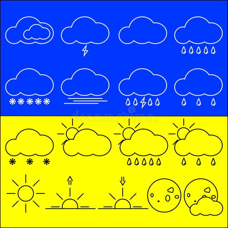 Sun, Wolke und Regen lizenzfreie abbildung