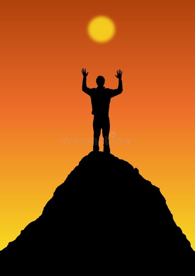 Download Sun Worship stock illustration. Image of mountain, graphics - 2077678