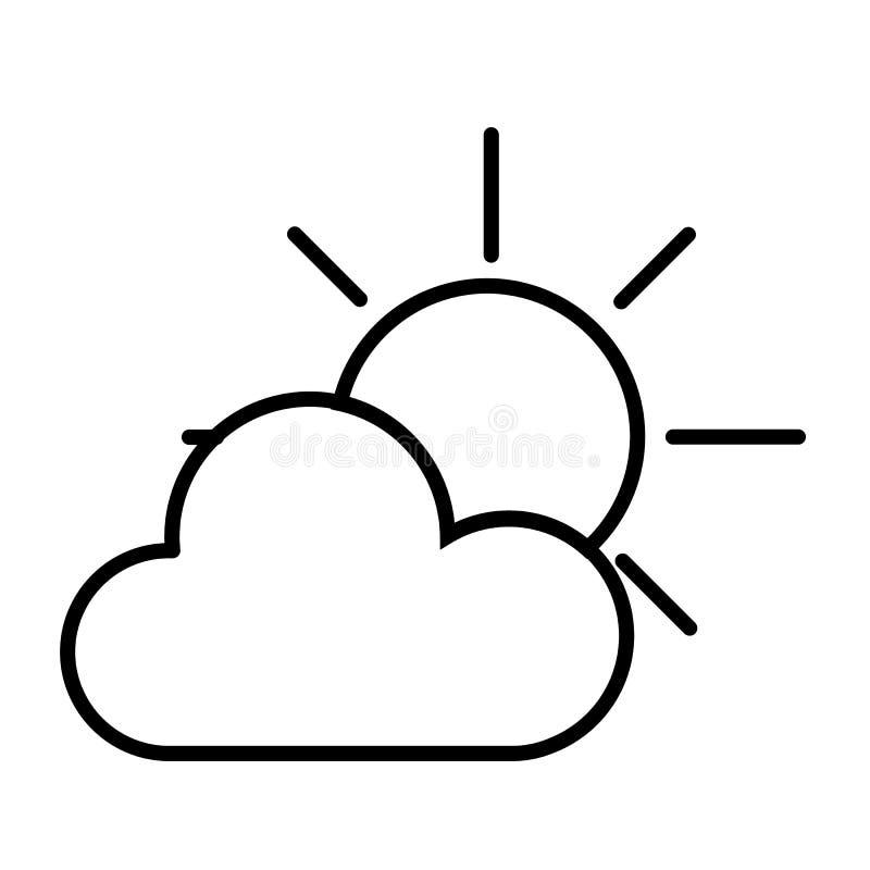 Sun y nube stock de ilustración