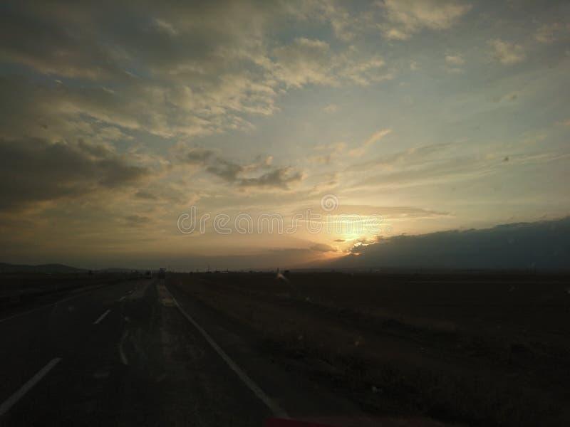 Sun y subida foto de archivo libre de regalías