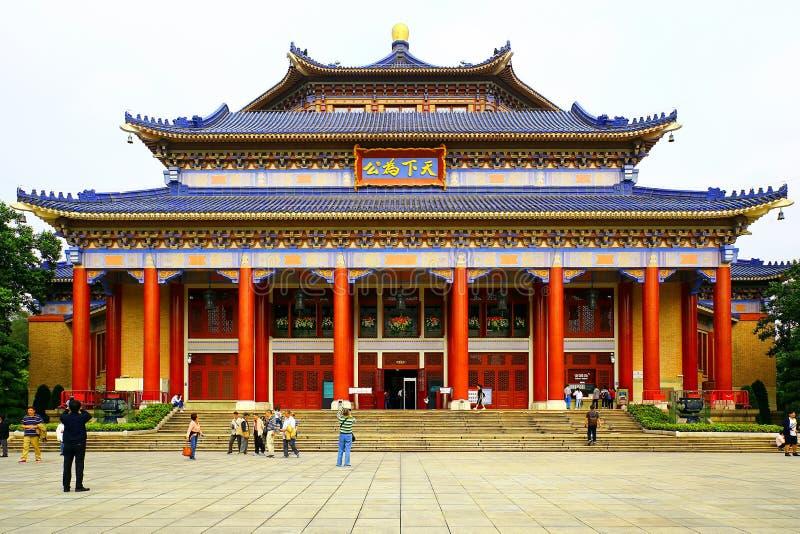 Sun Yat-sen den minnes- korridoren, guangzhou, porslin arkivbild