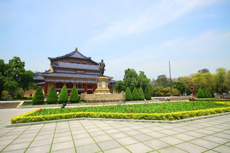 Sun Yat-sen hall commémoratif dans Guangzhou, Chine photos stock