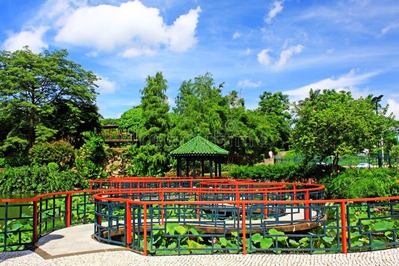 Sun Yat-sen Park, Macao, Cina fotografie stock libere da diritti