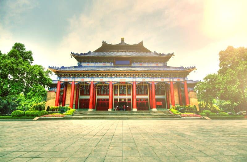 Sun Yat-sen Salão memorável em Guangzhou fotografia de stock