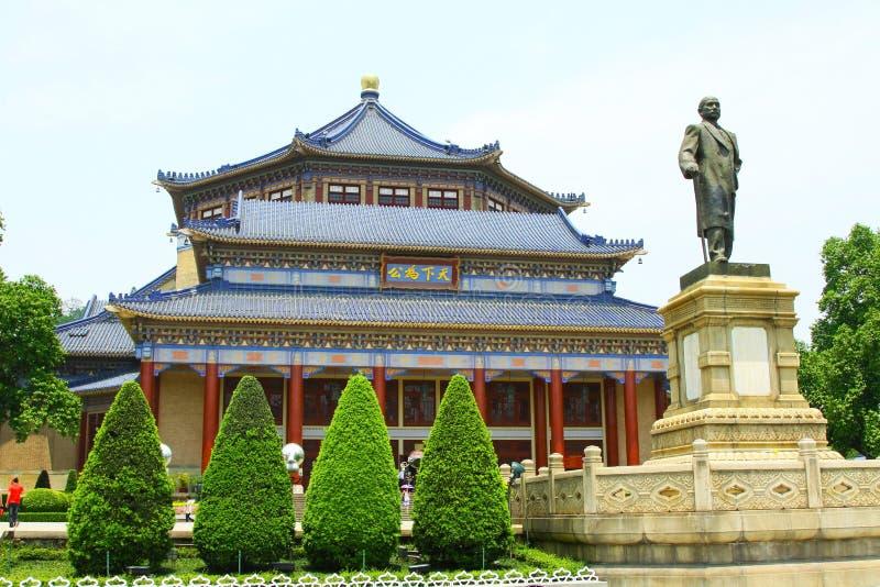 Sun Yat-sen Salão memorável em Guangzhou, China fotografia de stock royalty free