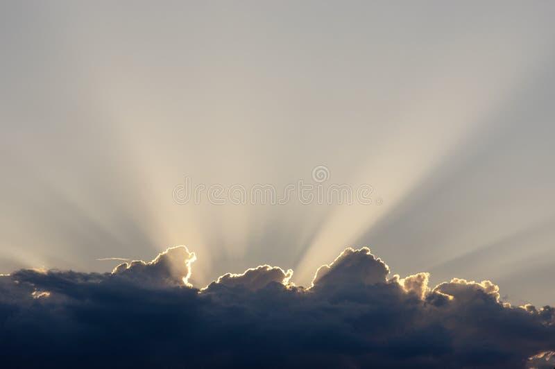 Sun za chmur? obraz royalty free