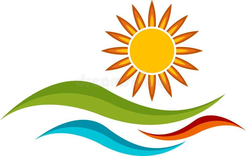 Sun-Zeichen lizenzfreie abbildung