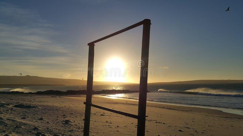 Sun zeigte Bilderrahmen im im Freien an stockfoto