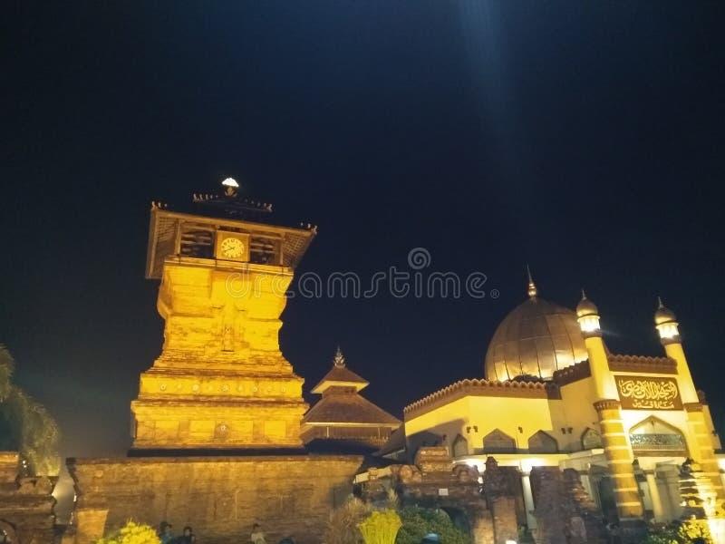 Sunan kudus Indonesia. Beautiful night royalty free stock photo