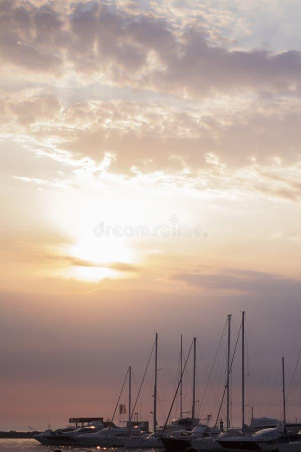 Sunarises in marine royalty free stock photos