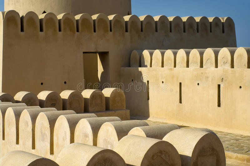 Sunaysilah Castle or Fort in Sur. Oman royalty free stock photography