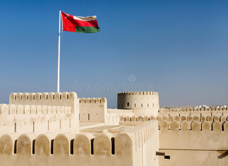 Sunaysilah Castle or Fort in Sur, Sultanate Oma royalty free stock photography