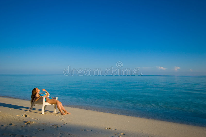 Sunbaden lizenzfreie stockfotos