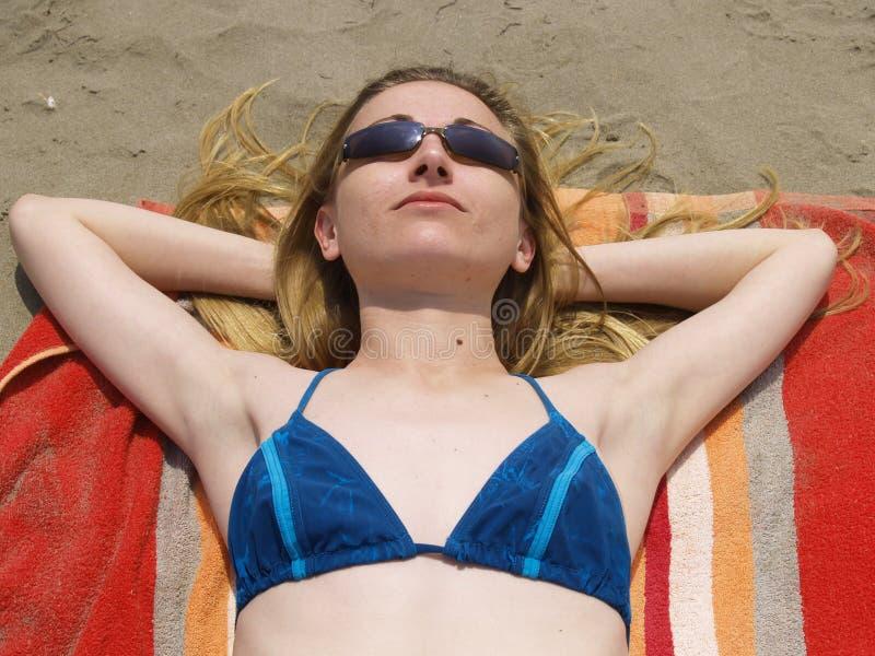 Sunbath image stock