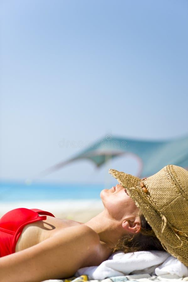 Sunbath imagem de stock