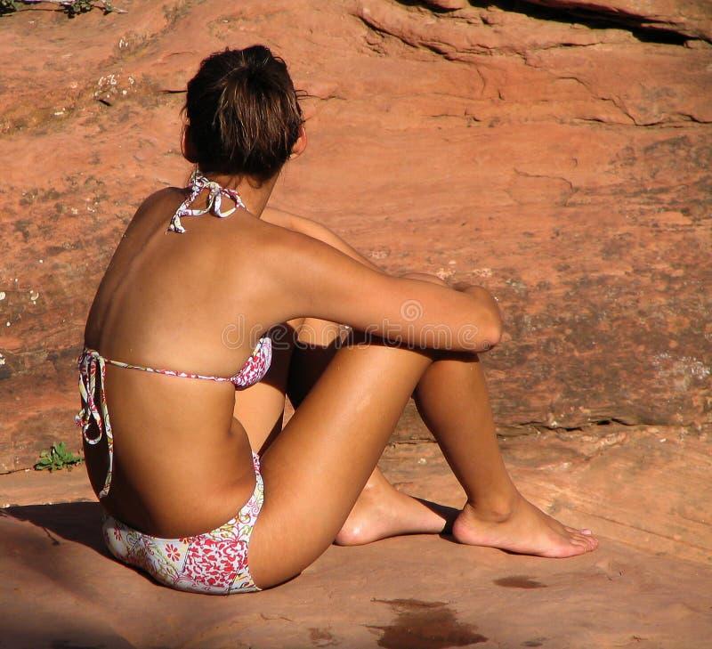 sunbather стоковые фотографии rf