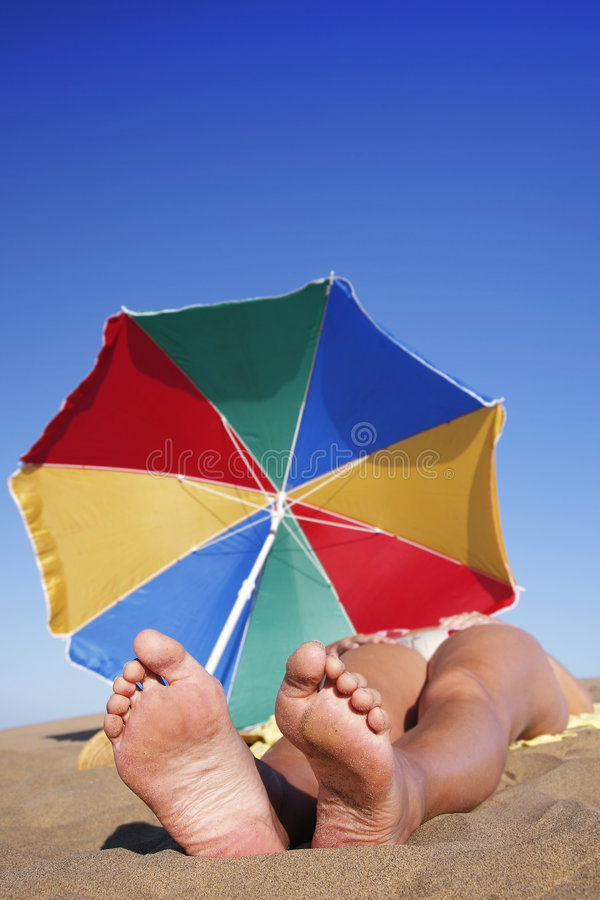 Sunbather fotografía de archivo libre de regalías