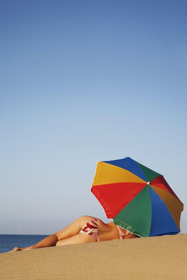 Sunbather stock foto's