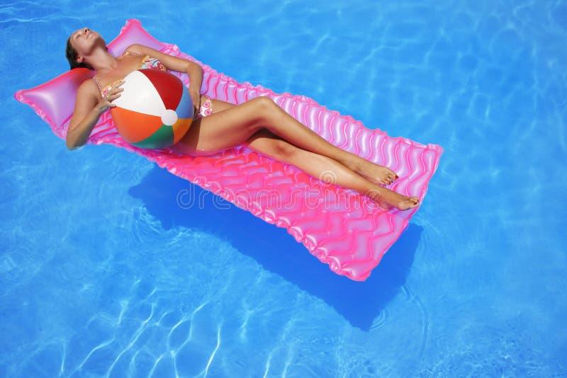sunbather стоковое изображение