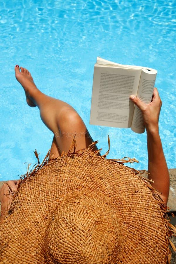 Sunbather da sopra fotografie stock
