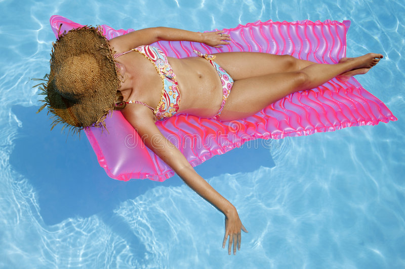 Sunbather de regroupement photographie stock libre de droits