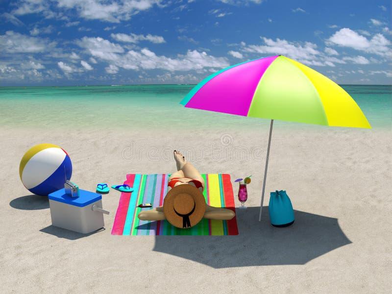 Sunbathing royalty free stock photos