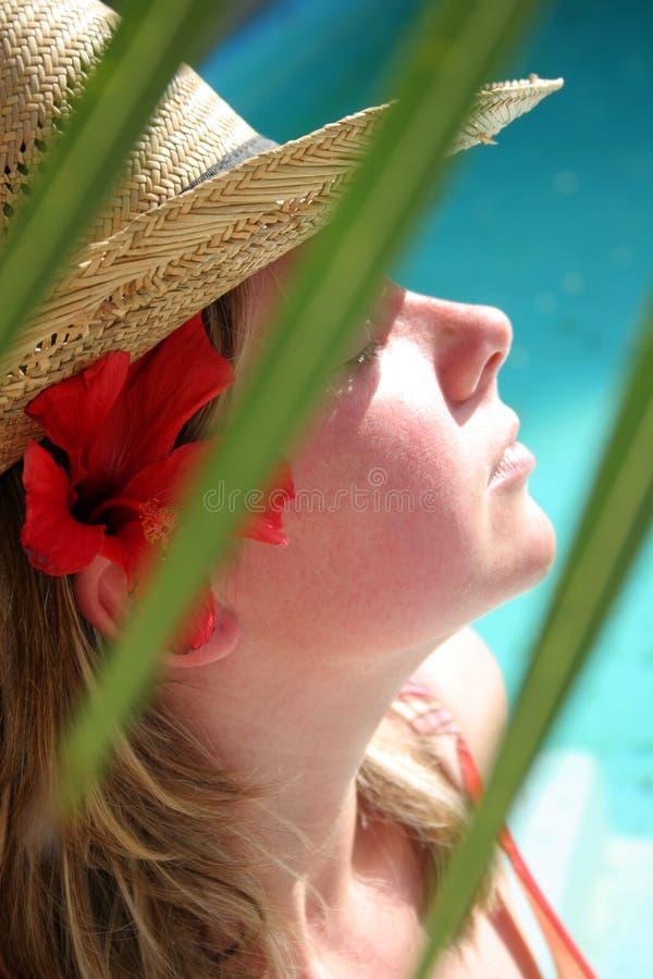 sunbathing стоковое фото