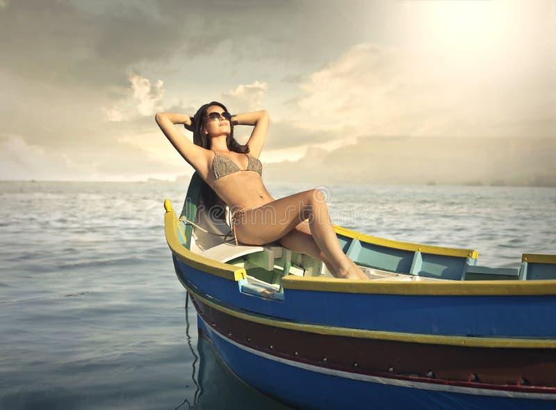 sunbathing imagen de archivo libre de regalías