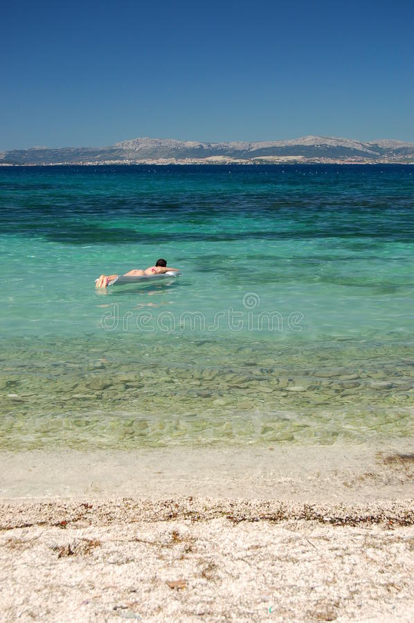 Sunbathing in Croatia royalty free stock photo
