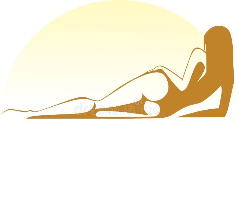 Download Sunbathing girl stock vector. Illustration of season - 31327381