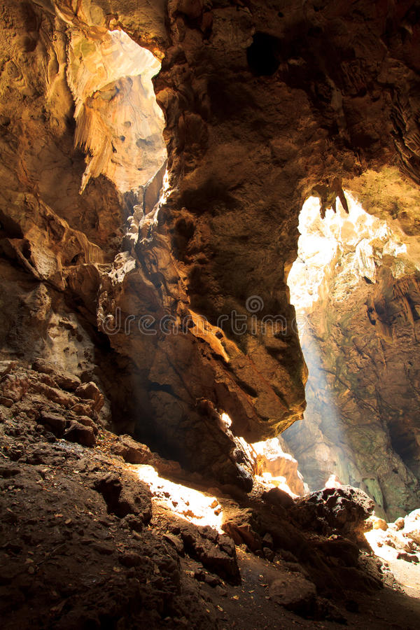 Download Sunbeam into the cave stock image. Image of dark, creep - 34205063