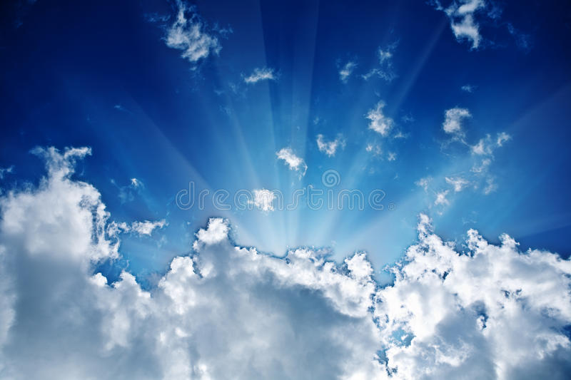 Download Sunbeam in the cloud stock photo. Image of cumulus, abstract - 12603000