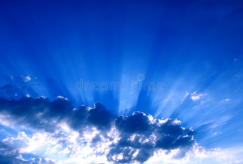 Sunbeams stock photography