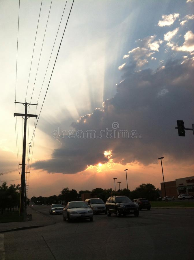 sunbeams foto de archivo