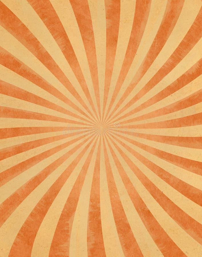 Sunbeams do vintage no papel ilustração do vetor