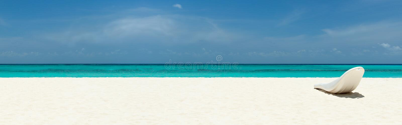 Download Sunbed On A Beautiful Tropical Beach Stock Image - Image: 30484179
