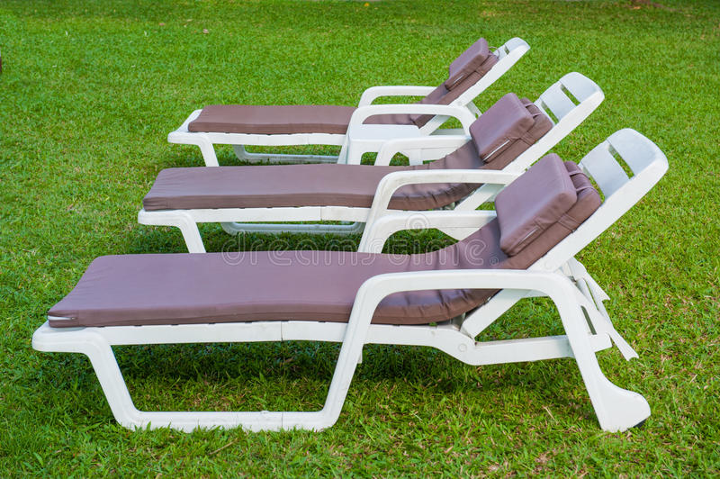 Download The Sunbed On The Green Grass Stock Photo - Image: 24334220