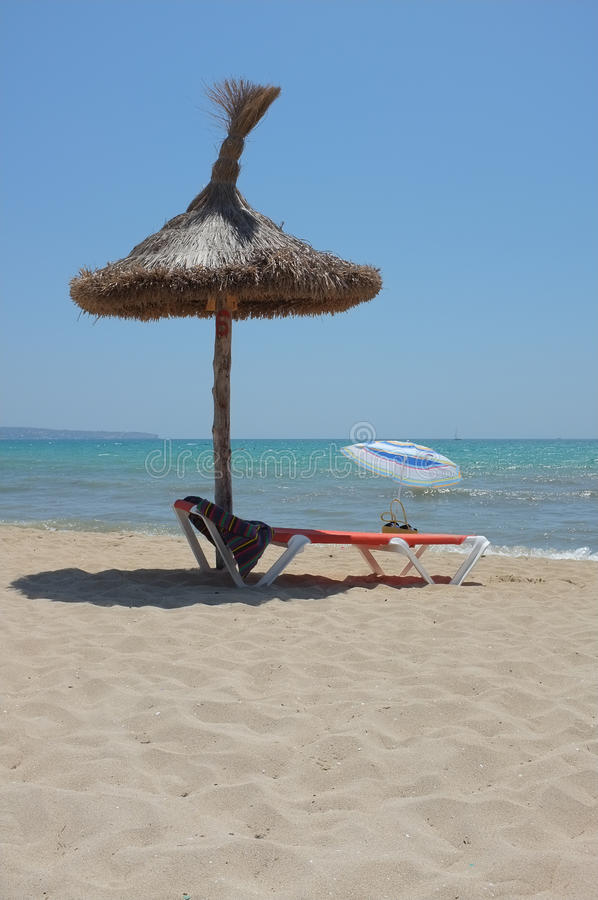 Download Sunbed under parasol stock image. Image of relax, ocean - 20527547