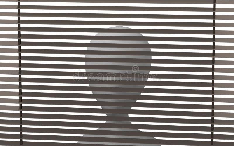 Download Sunblind stock illustration. Illustration of illustration - 14839075