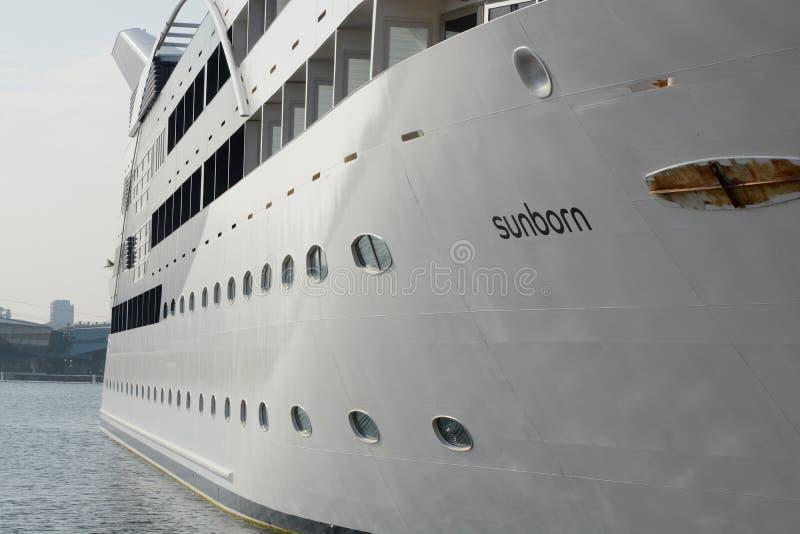 Sunborn Spławowy hotel w Docklands, Londyn, Anglia obrazy stock
