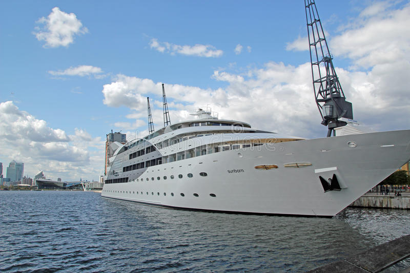 The Sunborn Yacht Hotel stock images