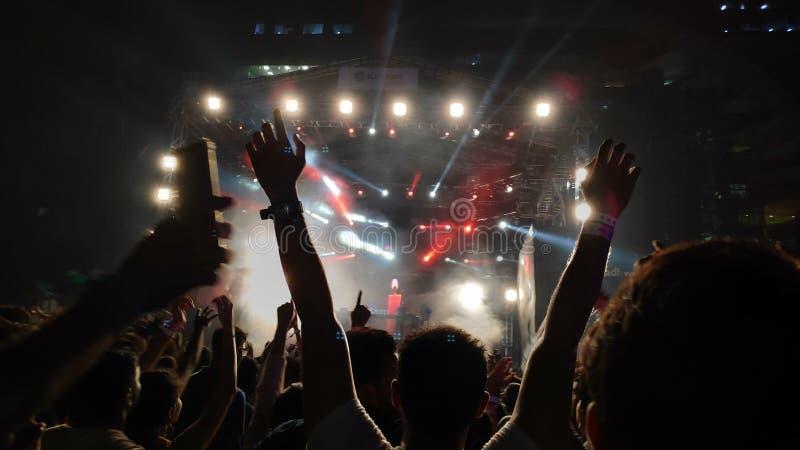 Rock music Sunburn festival, Mumbai, lndia stock photography