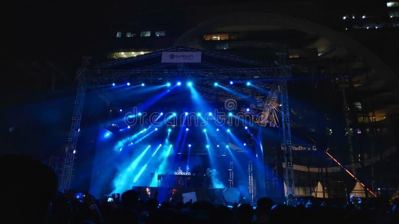 Rock music Sunburn festival, Mumbai, lndia stock photo