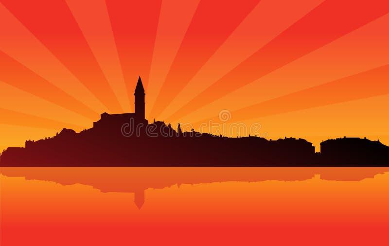 sunburst 02 городов иллюстрация вектора