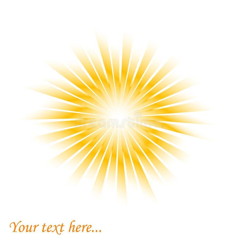 sunburst royalty ilustracja