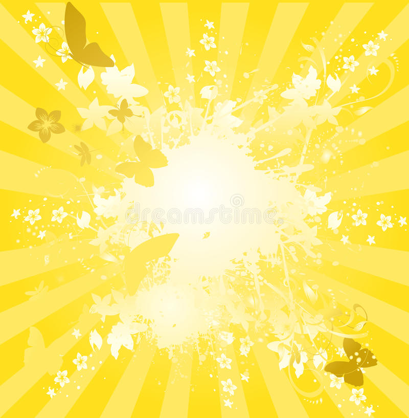 Sunburst ilustração stock