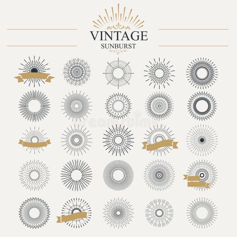 sunburst illustrazione di stock