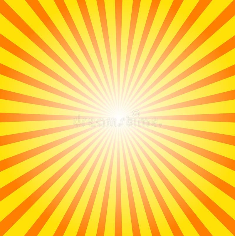 Sunburst background stock illustration