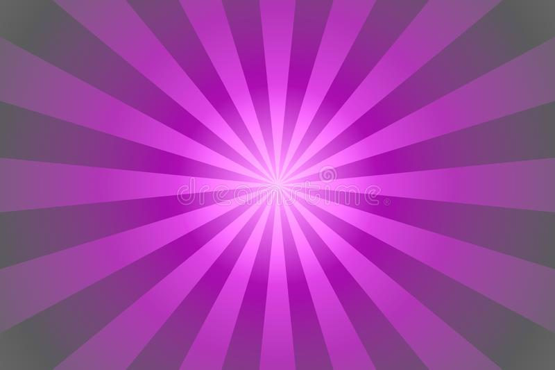 Sunburst background with pink and purple rays royalty free illustration