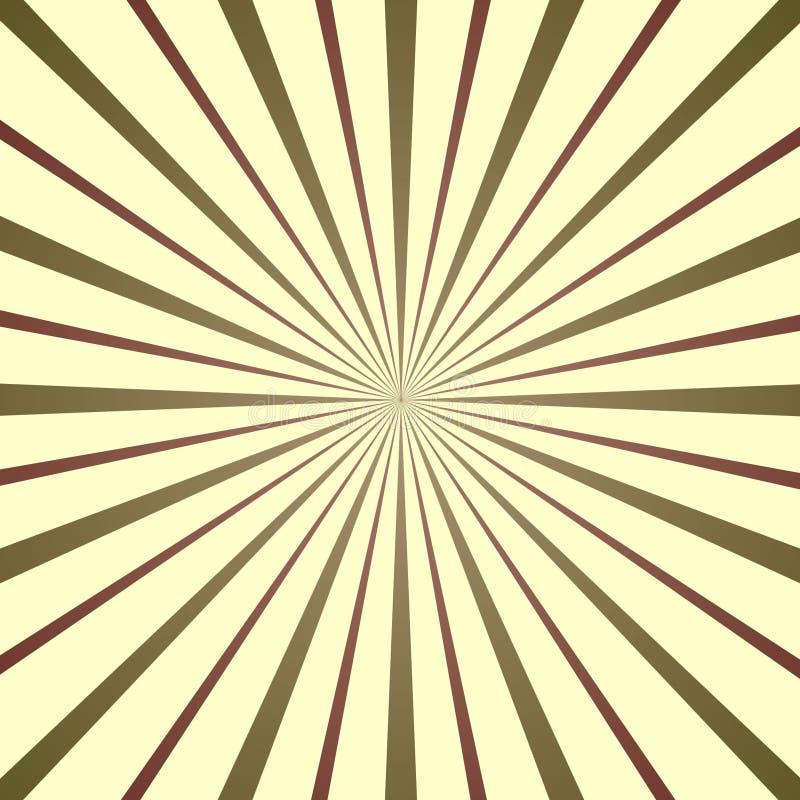 Sunburst colorido, ilustração retro do estilo imagens de stock royalty free